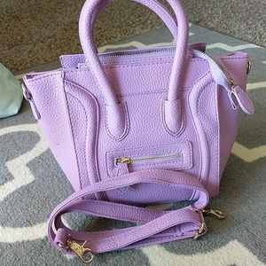 Nwot lavender mini cross bag smile